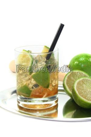 caipirinha with fresh lime