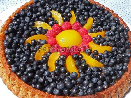 decorated blueberry pie