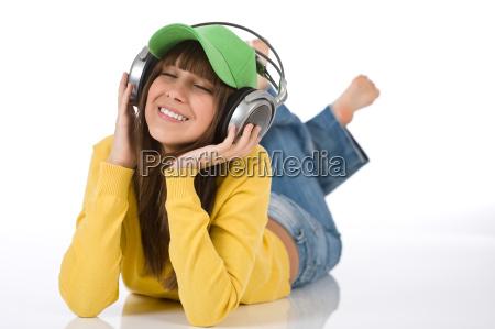 woman, listen, music, female, earphones, headphones - 2804003
