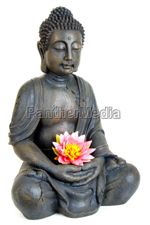 buddha, with, flower - 2806943