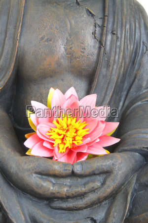 buddha, with, flower - 2806945