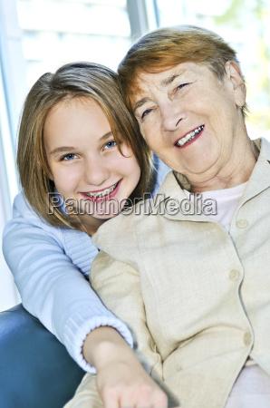 granddaughter, visiting, grandmother - 2806759