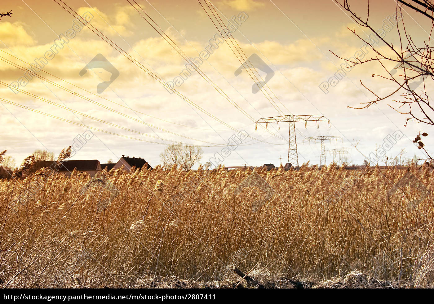 power, lines, and, electricity, pylons, in - 2807411