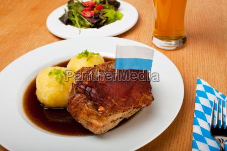 bavarian, roast, pork, with, dumplings - 2811993
