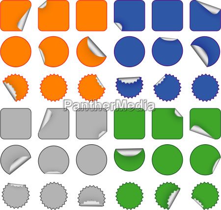 colorful, blank, stickers - 2813497