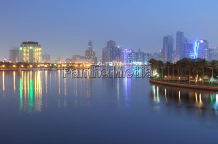 sharjah, city, at, night - 2814009