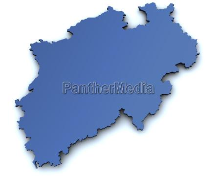 map, of, north, rhine-westphalia - 2815023