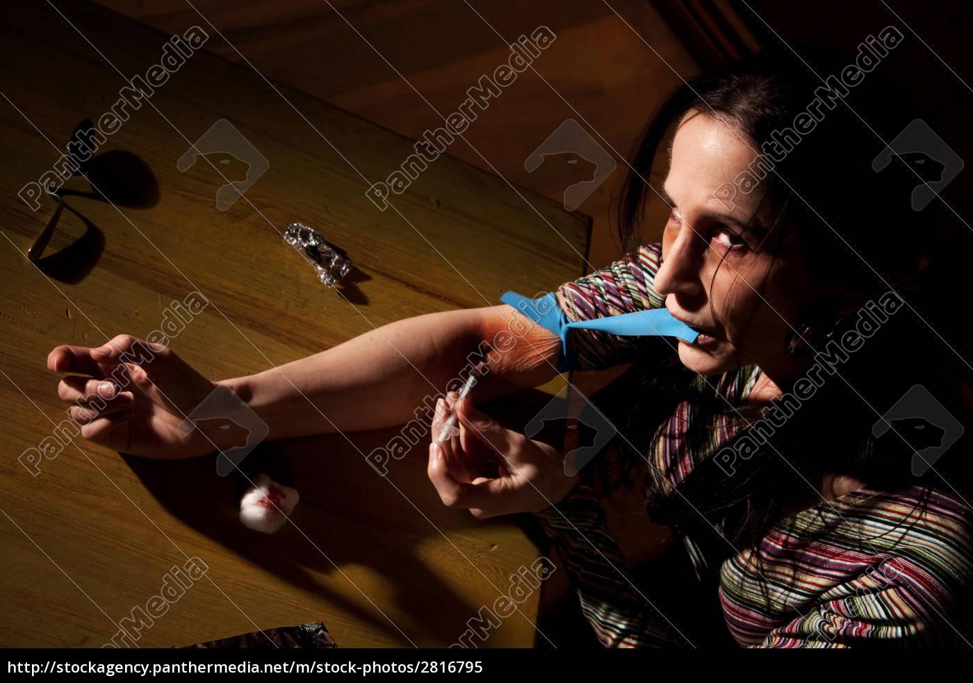 woman, wih, tracks, on, her, arm - 2816795