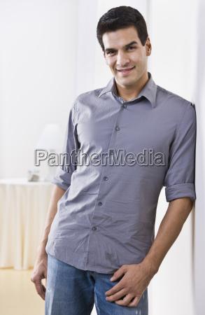 attractive man posing