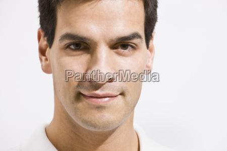 man close up
