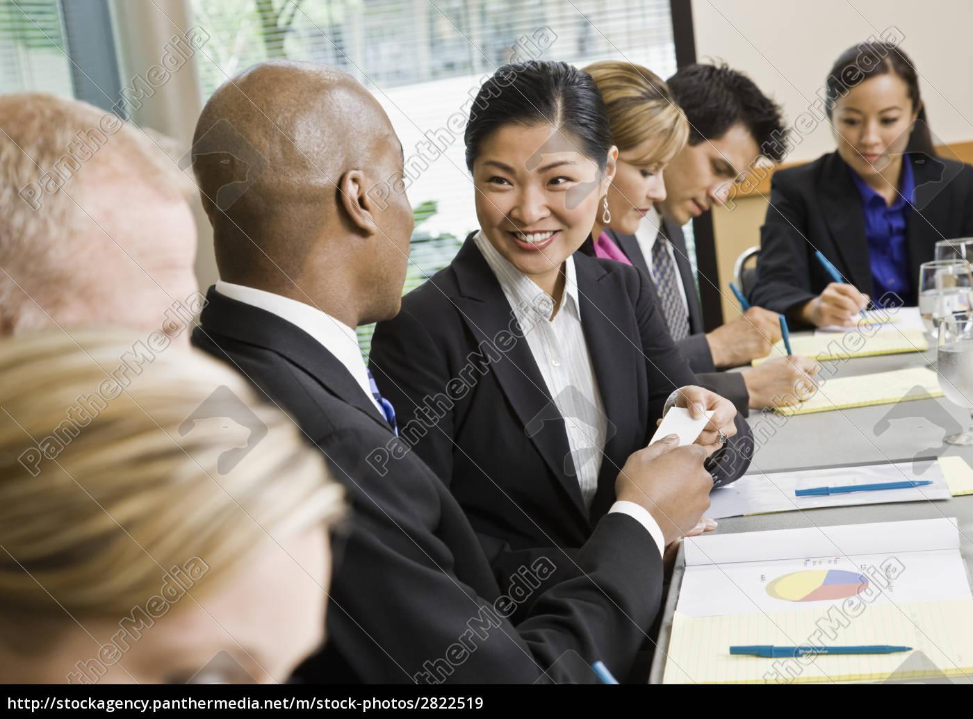 businesswoman, at, meeting, smiling - 2822519