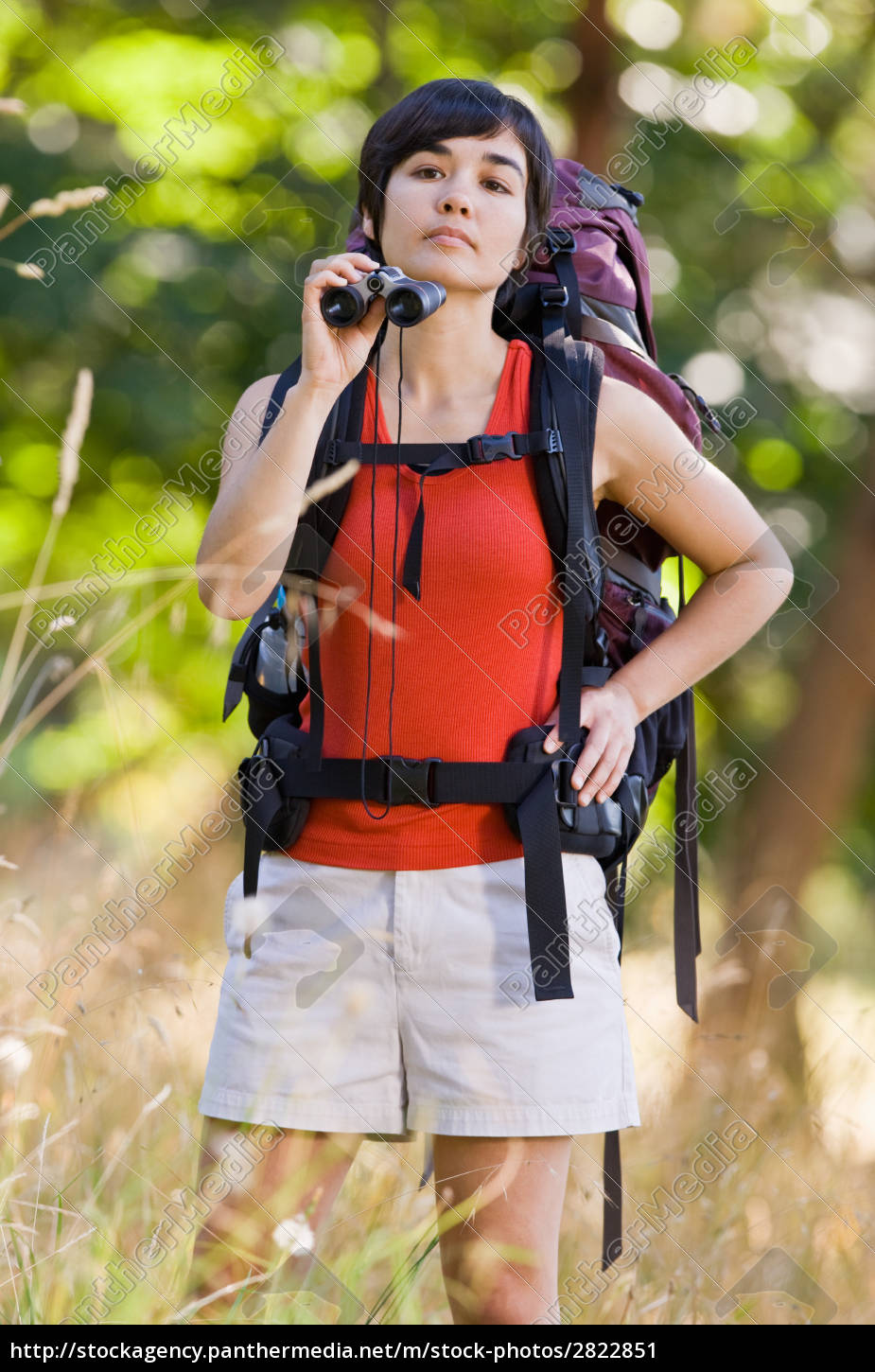 curious, woman, with, backpack, and, binoculars - 2822851