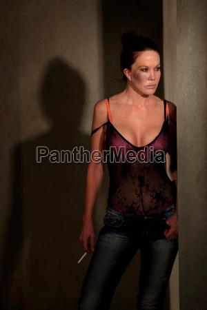 prostitute, in, hallway, with, bruise, on - 2822815
