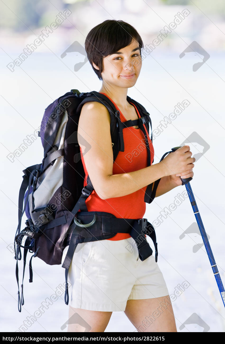 woman, hiking, with, backpack, and, walking - 2822615