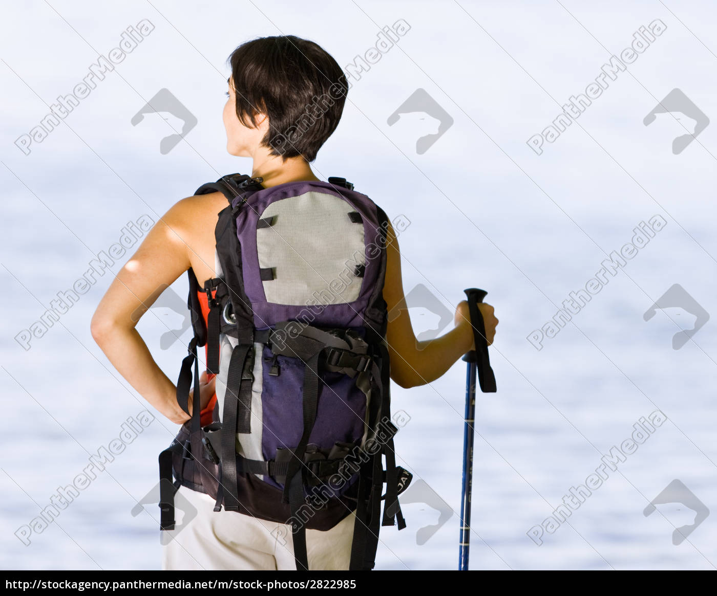 woman, hiking, with, backpack, and, walking - 2822985