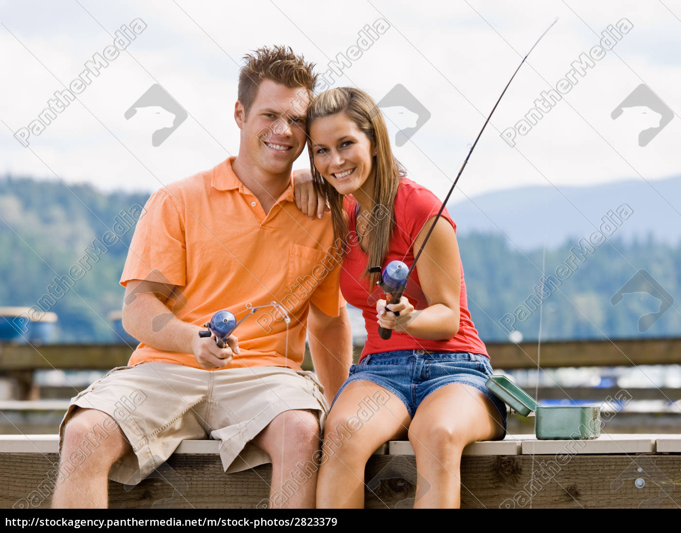 couple, fishing, on, pier - 2823379