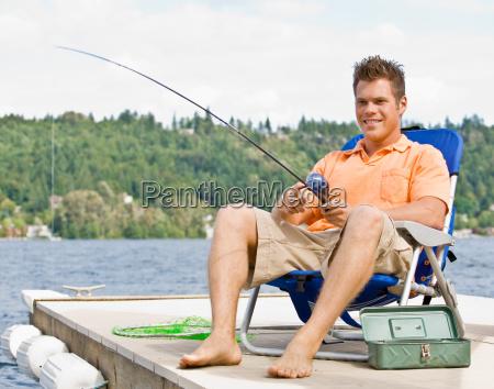 man, fishing, on, pier - 2823219