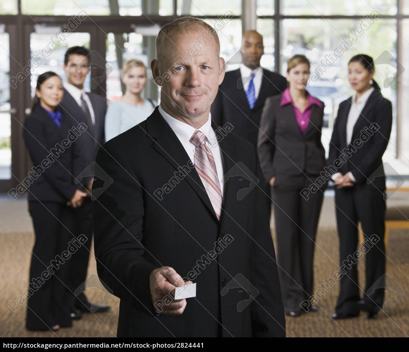 businessman, offering, business, card - 2824441