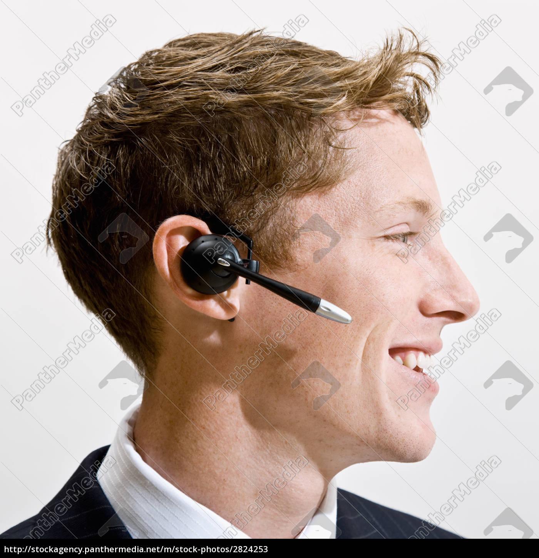 businessman, talking, on, headset - 2824253