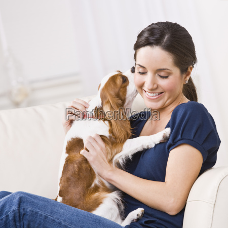 dog, kissing, woman - 2824097