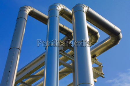 industry, tube, metallic, firmament, sky, pipe - 2824623