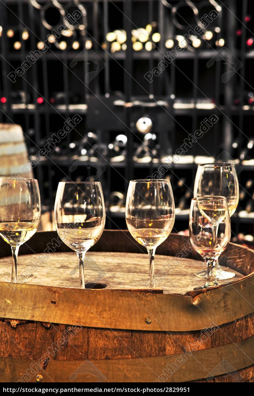 wine, , glasses, and, barrels - 2829951