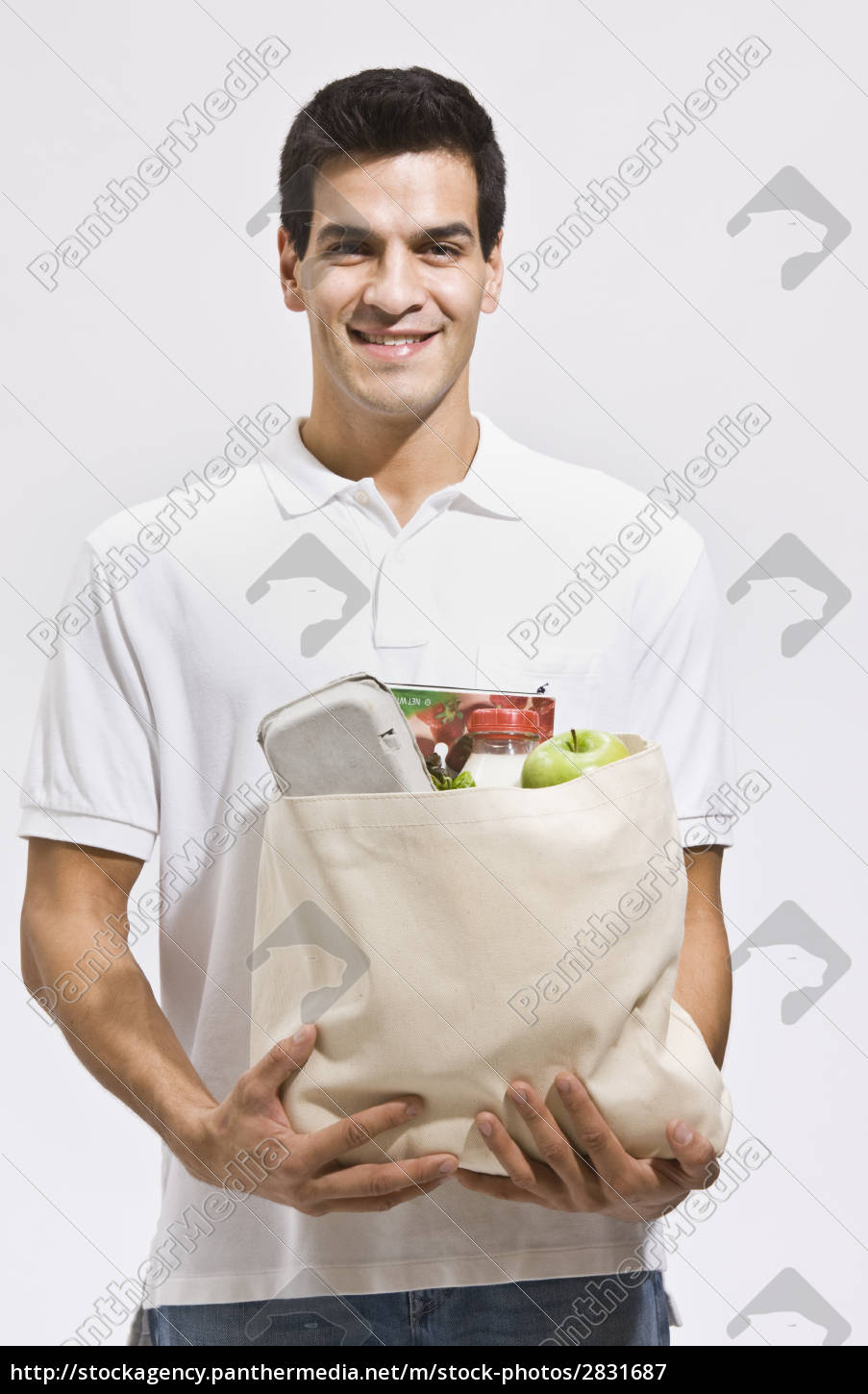 attractive, man, holding, groceries - 2831687