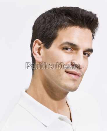 headshot of attractive man with chiseled