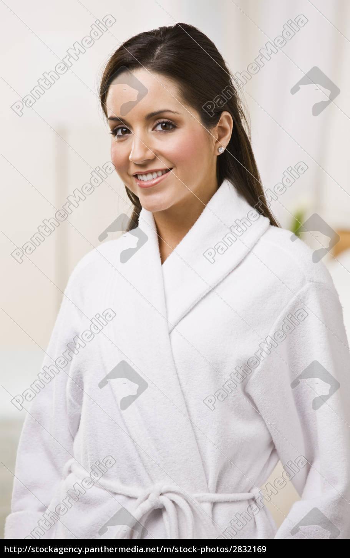 attractive, female, in, a, bathrobe. - 2832169