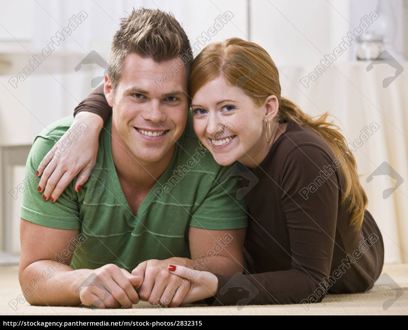 happy, couple, lying, together, on, their - 2832315