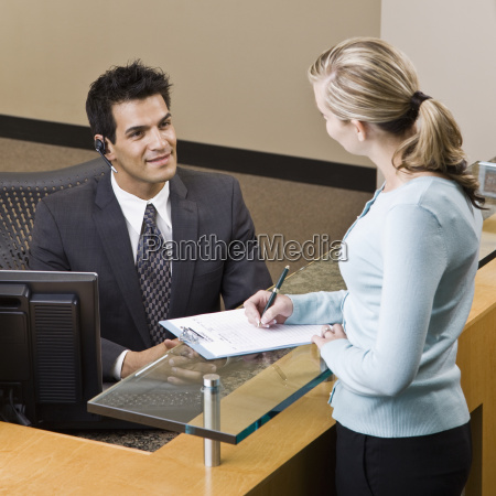 businesswoman, and, receptionist - 2833943