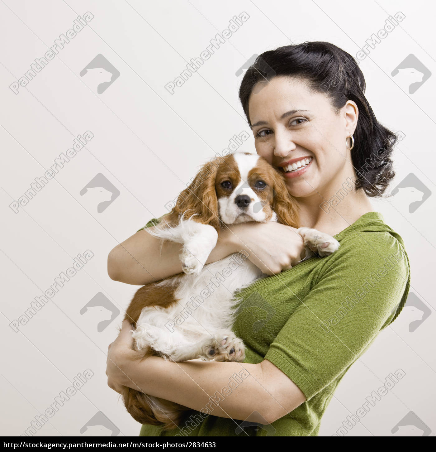 adult, woman, with, puppy - 2834633