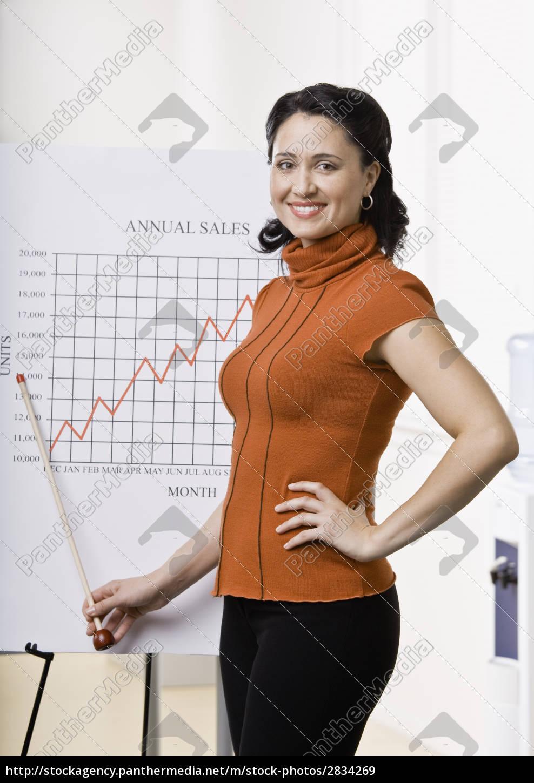 businesswoman, giving, presentation - 2834269