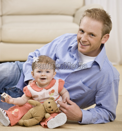 young, man, and, child, smiling - 2834059