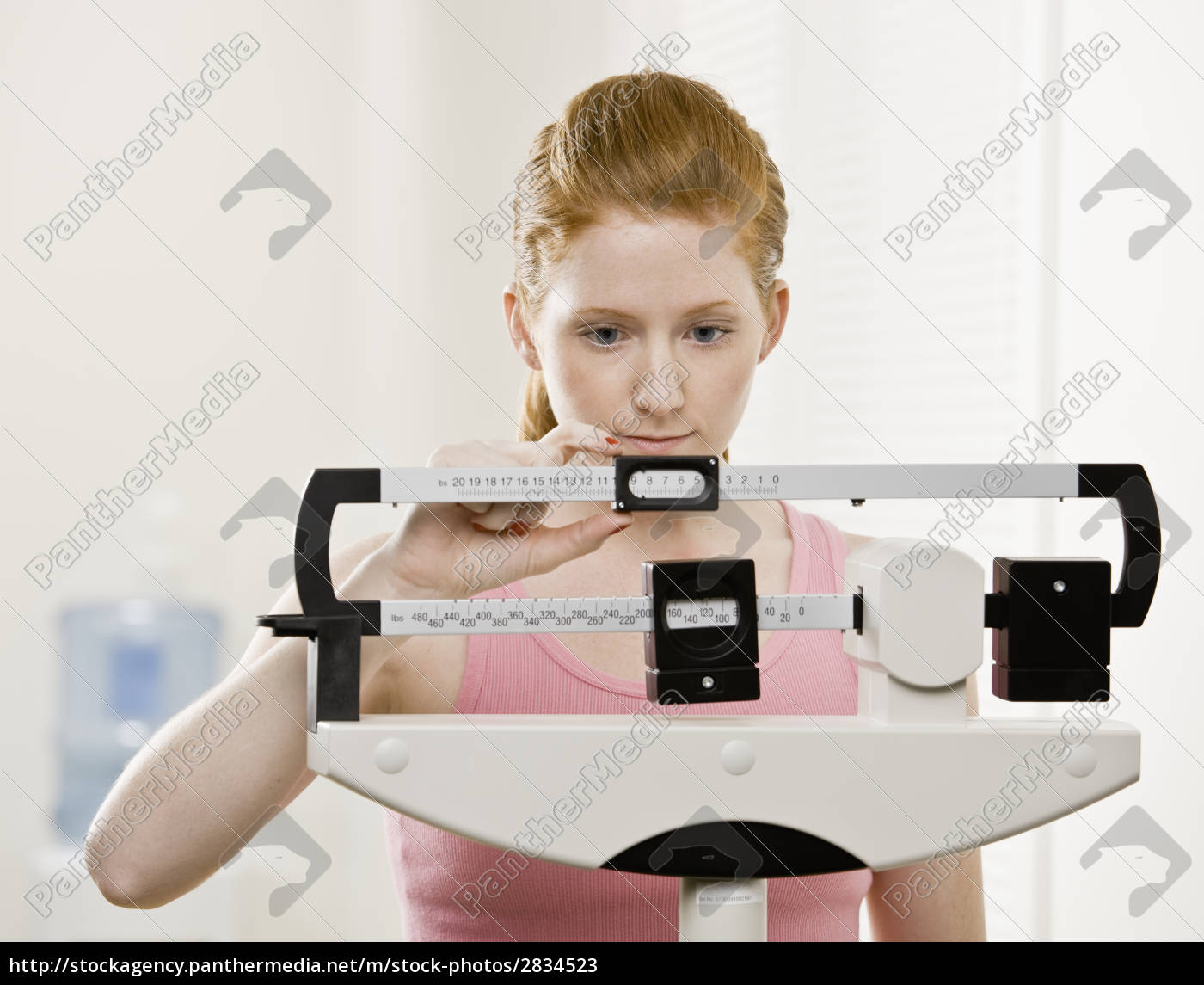 young, woman, weighing, self - 2834523