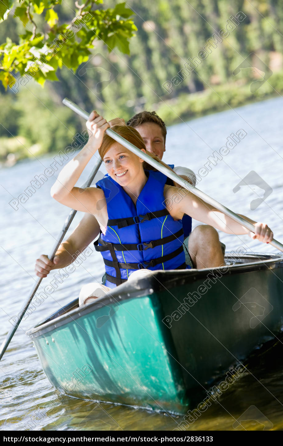 couple, rowing, boat - 2836133