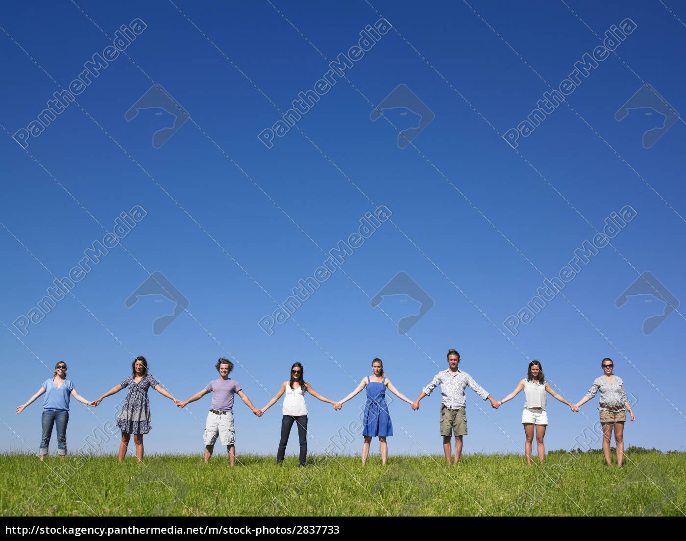 group, holding, hands - 2837733