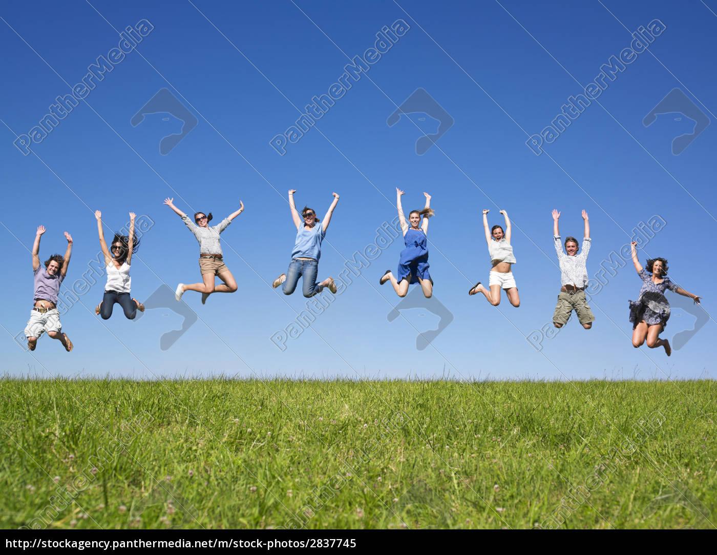 group, jumping, - 2837745
