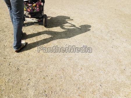 adult, pushing, stroller - 2838461