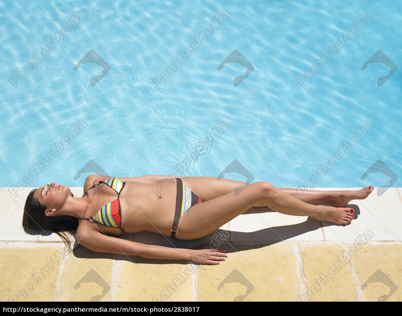 woman, around, pool - 2838017