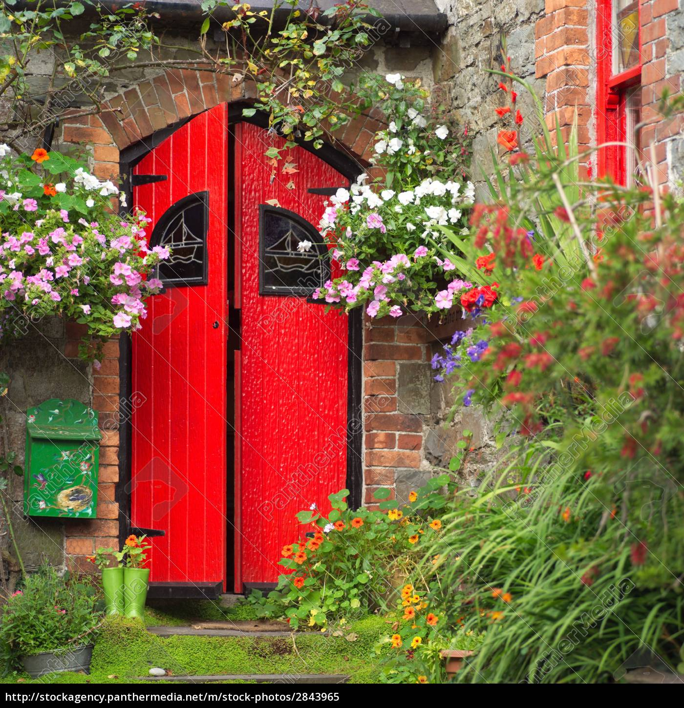 Europe, Red, Building, Door, Wall, Flower - 2843965