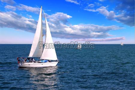 sailboats, at, sea - 2848043