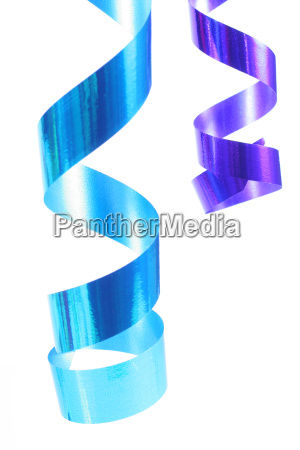 shiny colorful satin ribbons hanging in
