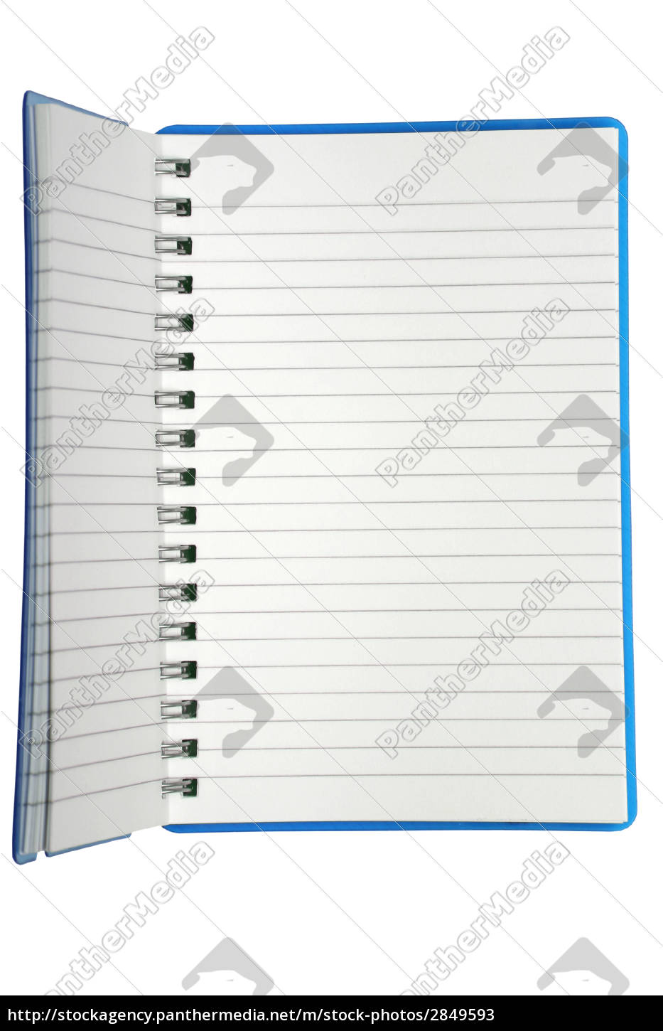 a, small, spiral, notebook, being, opened - 2849593