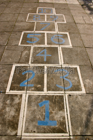 hopscotch, on, a, children's, playground. - 2849707