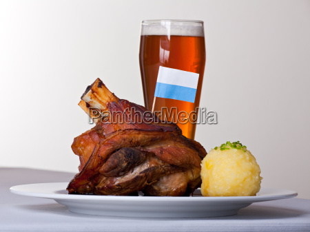 pork with potato dumplings and wheat