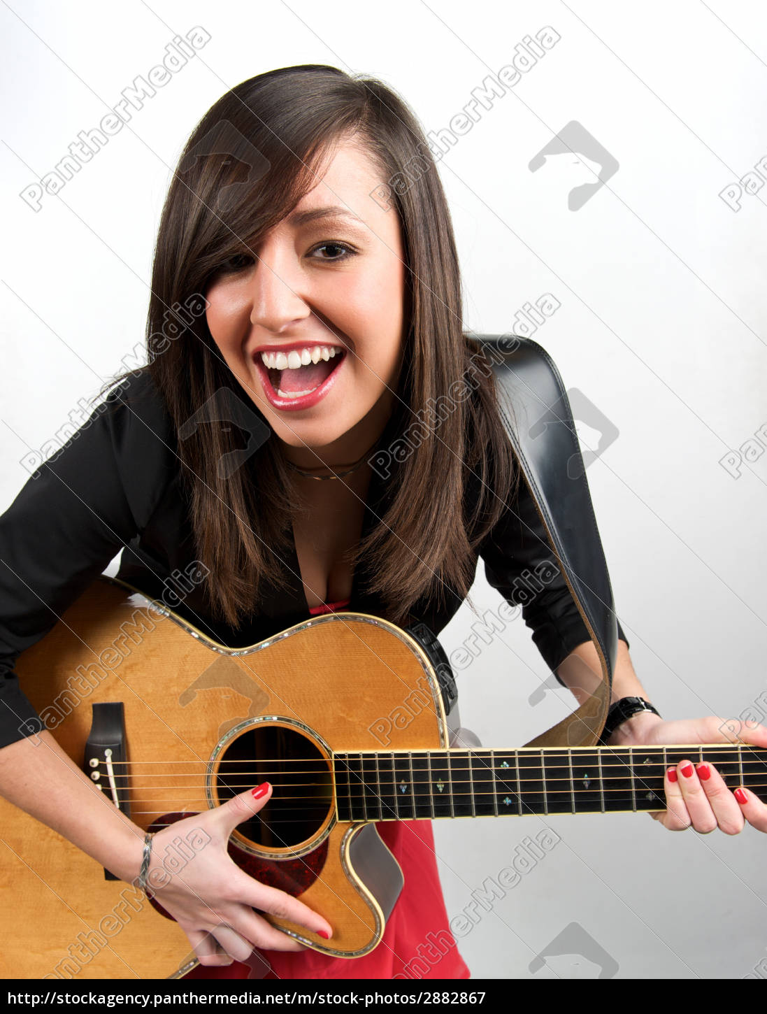 woman, music, fashion, guitar, sing, acoustic - 2882867