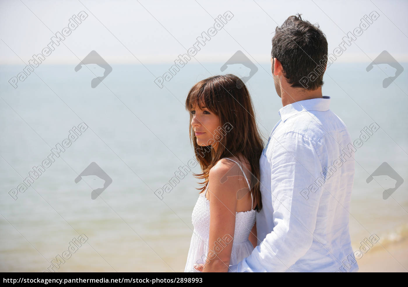 woman, profile, relaxation, romantic, beach, seaside - 2898993