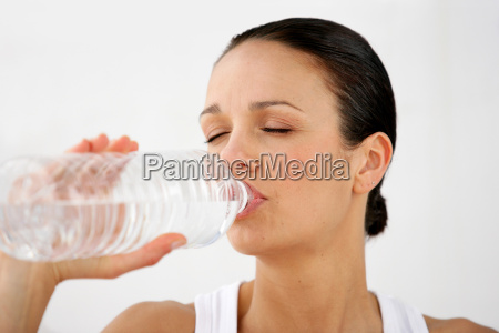 portrait, of, a, woman, drinking, from - 2899811