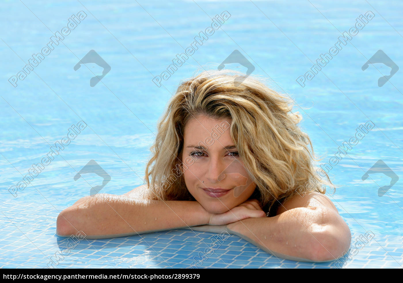 portrait, of, smiling, woman, bathing, at - 2899379